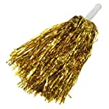 Ac2Shop Metallic Cheerleader Poms Dance Party Welcome Costume Streamer, Gold