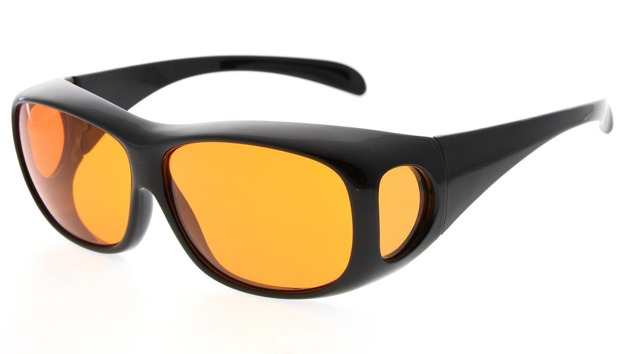 Fit Over Eyeglasses Anti-Blue Blocking Computer Glasses Reduce Eyestrain
