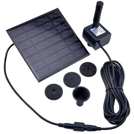 VicTop® Bomba de Agua Sumergible con Panel Solar para Pecera, Fuente o Riego de Jardín: Amazon.es: Hogar