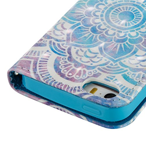 Crisant Case Cover For Apple iPhone 5 5S / SE,Joli motif conception portefeuille magnétique supporter PU cuir de flip protection housse coque étui pour Apple iPhone 5 5S / SE