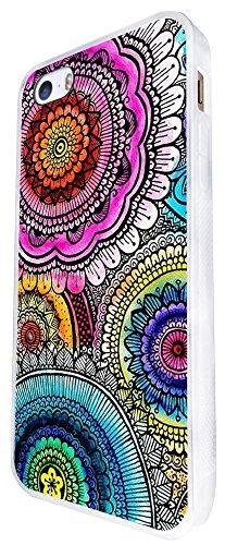 742 - Middle East Multi Art Kubera Yantra Design iphone SE - 2016 Coque Fashion Trend Case Coque Protection Cover plastique et métal - Blanc