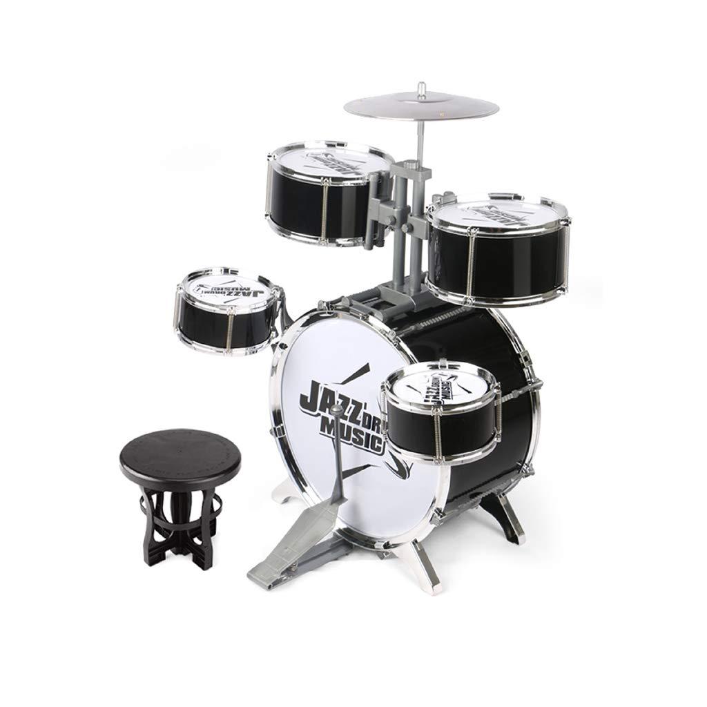 上品なスタイル HXGL-ドラム : 黒 おもちゃドラムパーカッション子供用ジャズドラムギフトボーイ子供時代3-6歳 (色 : 黒) (色 黒 B07L7PC1FM, POPSOCKETS 公式:76f5b8d6 --- a0267596.xsph.ru