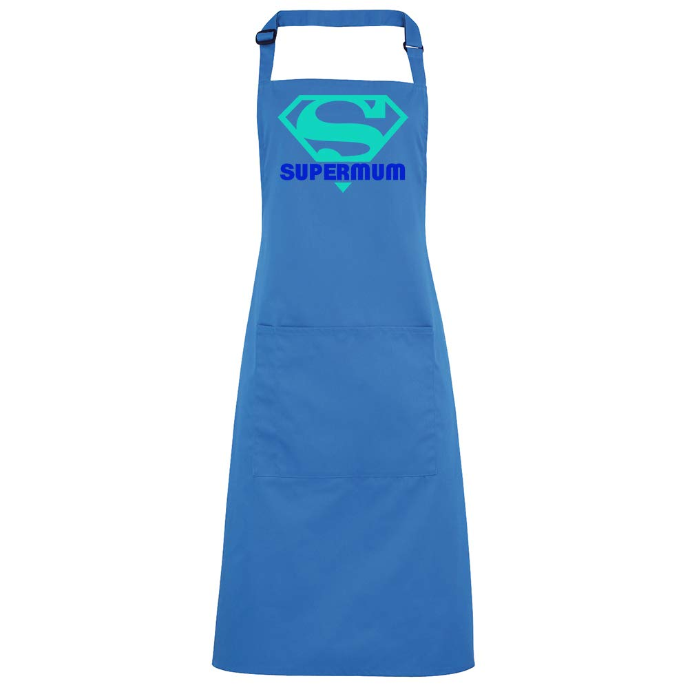 All Dandy Supermum Logo Apron Superhero Mum Gift Royal-Blue Funny Master Chef BBQ Aprons Mothers Day