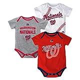 "Washington Nationals Baby / Infant ""Three Strikes"" 3 Piece Creeper Set"