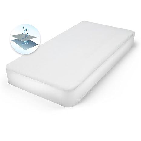 ECD Germany Protector de colchón en algodón contra la incontinencia 70 x 140 x 18 cm