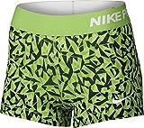 Nike Pro 3'' Cool Short Facet Women's Shorts (Action Green/Black/Key Lime/White, X-Small)