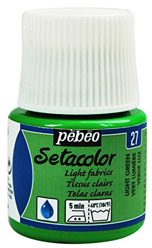 Pebeo Setacolor Light Fabrics Paint 45-Milliliter Bottle, Light Green by Pebeo