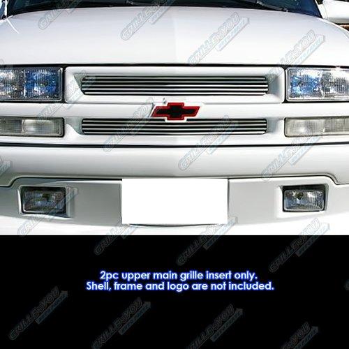 (APS Fits 98-04 Chevy S-10/98-05 Blazer Main Upper Billet Grille Insert #C65705A)