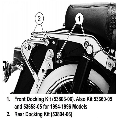 Detachable Sissy Bar Backrest Docking Hardware Kit For Harley Touring 97-08