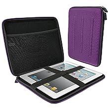 iGadgitz Purple EVA Travel Hard Case Cover Sleeve for Apple iPad 2, 3, 4 With Retina, iPad Air 2013 , iPad Air 2 & iPad Pro 9.7 2016
