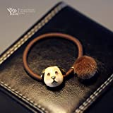 Grapefruit meters ornaments hair ornaments Korean animal head hair rope Tousheng malist ceramic technology mink hair rings bear headdress for women girl lady