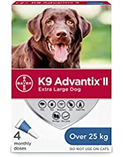 K9 Advantix II Flea and Tick Treatment for Extra Large Dogs weighing over 25 kg (over 55 lbs.)