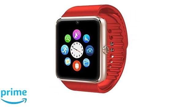 Sin marca - Smartwatch gt08 sim+SD+Bluetooth Negro+Plata: Amazon.es: Electrónica