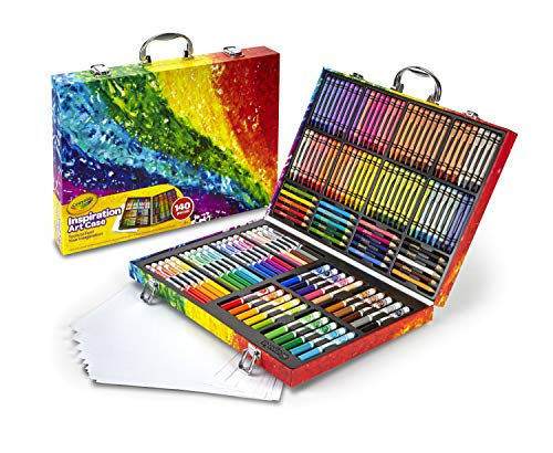 Crayola Inspiration Art Case Coloring Set, Easter Gift for Kids, 140 Art Supplies