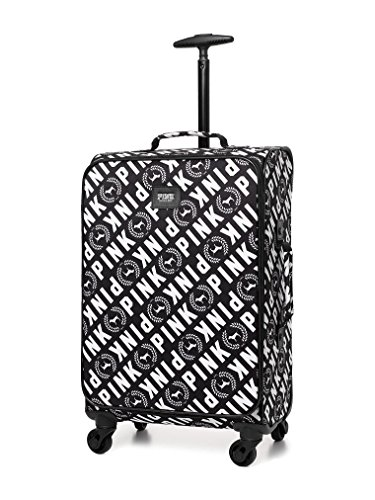 Victoria's Secret PINK WHEELIE Suitcase Carry on Travel Luggage Black & White by Victoria's Secret