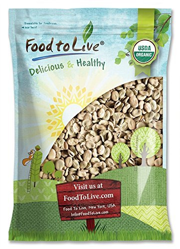 Organic Fava Beans by Food to Live (Broad Beans, Non-GMO, Kosher, Raw, Sproutable, Dried Vicia Faba, Bulk Seeds, Product of the USA) - 10 Pounds