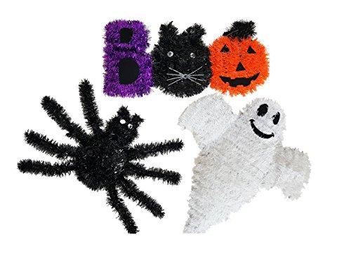 Cute Hanging Tinsel Halloween Character Happy Boo Pumpkin