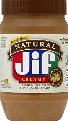 Jif Natural Creamy Peanut Butter Twin Pack, 80 Ounce