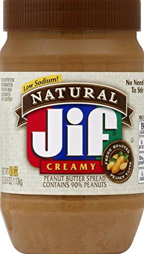 Jif Natural Creamy Peanut Butter Spread, 40 Ounce