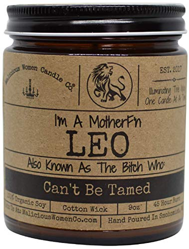 Malicious Women Candle Co - Leo The Zodiac Bitch - Can
