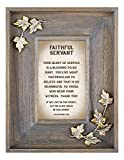 LoveLea Down Home Collection Tabletop Frame, Faithful Servant