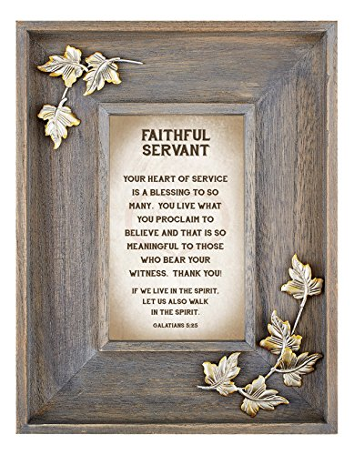LoveLea Down Home Collection Tabletop Frame, Faithful Servant by CB Gift