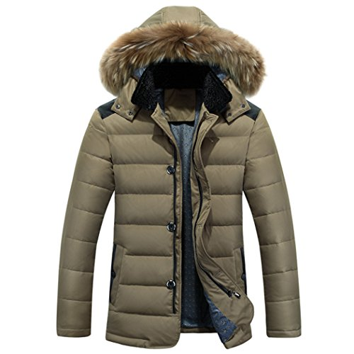 jacket winter Khaki In warm long XXXL men's fashion HHY the hooded casual FZv1q1zn