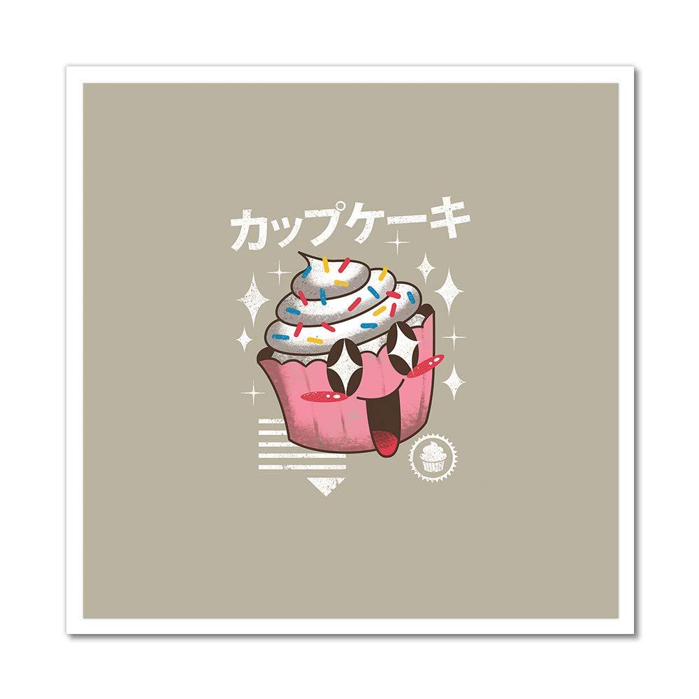 Cupcake Kawaii Artwork   Canvas Rolled in a Tube - 36''  Living Room, Bedroom, Office, Bathroom Wall Decor Art Ready to Hang para El Hogar Decoracion   36'' x 36'' by MightySkins