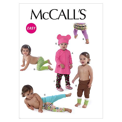 McCalls Patterns M6457 Infants Leggings
