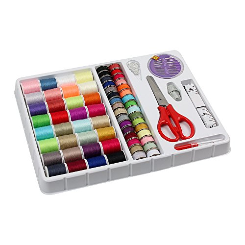 Sewing Thread 100 Quantity Mixed Colors Sewing Kit For Basic Sewing Machine, Emergency and Travel