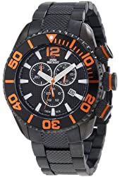 Swiss Precimax Men's SP12176 Deep Blue Pro II Black Dial with Black Stainless Steel Band Watch