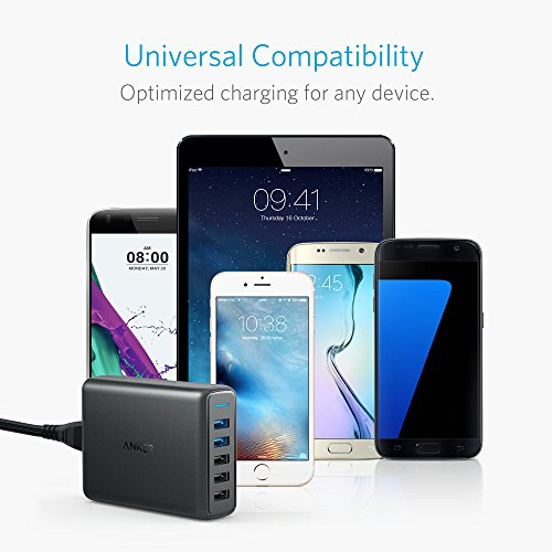 Anker Quick Charge 3.0 63W 5-Port USB Wall Charger, PowerPort Speed 5 Galaxy S9 / S8 / S7 / S6 / Edge / +, Note 5/4 PowerIQ iPhone X / 8/7 / 6s / Plus, iPad, LG, Nexus, HTC More by Dr.fasting (Image #5)
