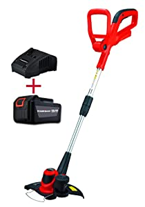 PowerSmart PS76110A 18V Lithium-Ion Cordless String Trimmer/Edger with Easy Feed (Includes One Battery & Charger)