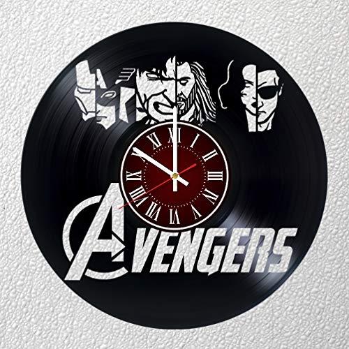MARVEL AVENGERS Art 12 inches / 30 cm Vinyl Record Wall Clock | IRON MAN Fan Gift | Breaking Bad Clock | Children's Room Decor Idea | MARVEL Home Art Party AVENGERS Movie HULK| CHRISTMAS | SPIDER-MAN -