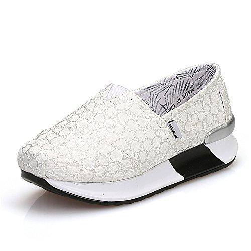 FangYOU1314 Zapatos Deportivos Antideslizantes Ligeros y Resistentes al Desgaste y Transpirables Ocasionales (Color : Blanco, tamaño : 38 EU) Blanco