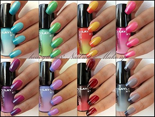 THERMO EFFEKT NAGELLACK by LAYLA - EIGHT COLOUR SET - LIMITED EDITION