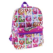"Backpack - Shopkins - Characters Box 16"" School Bag New 424304"