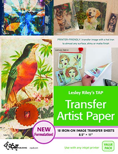 C and T Publishing Transfer Artist Paper, 8.5 by 11-Inch, 18 Sheets Per Pack