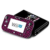 Monster High Ghoul Hot Pink Skull Decorative Decal Cover Skin for Nintendo Wii U Console and GamePad