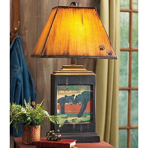 - Cubs In Canoe Table Lamp