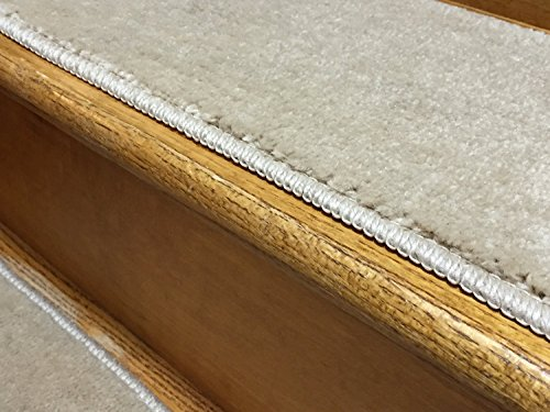Stair Tread Treads Indoor 7 inch x 24 inch Machine Washable Skid Slip Resistant Carpet Stair Tread Treads Comfy Collection (Set of 13, Dark Cream) by RugStylesOnline (Image #3)