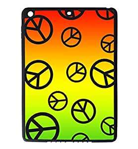 iPad Air Rubber Silicone Case - Peace Signs Peace Love Colorful