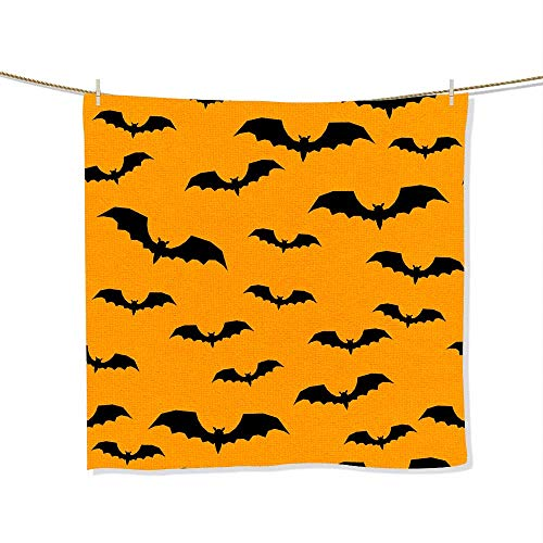 Microfiber Beach Towel Happy halloween abstract seamless pattern