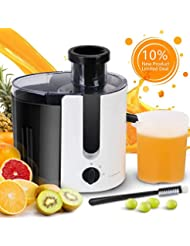 Aigostar Grape - Wide Mouth Centrifugal Juicer BPA-Free Food Grade, Stainless Steel Dual