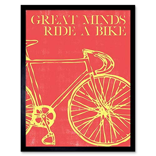Sport Great Minds Bike Cycle Red Wall Art Print Poster 12X16 /'/' HP4193