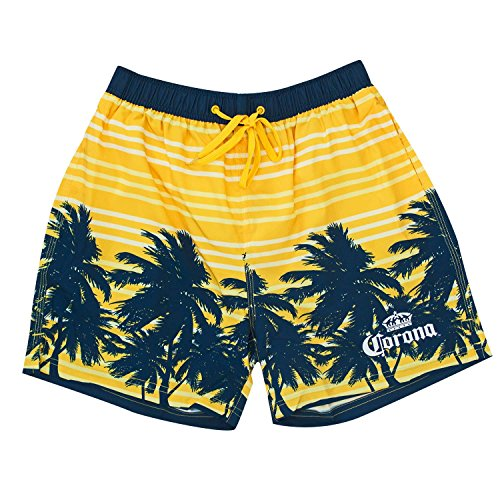 Corona Yellow Palms Board Shorts