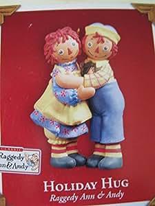 Raggedy Ann & Andy Holiday Hug 2004 Hallmark Keepsake Christmas Ornament