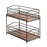 Small Kitchen Cabinets Seville Classics 2-Tier Sliding Basket Kitchen Cabinet Organizer, Bronze