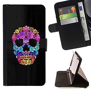 Momo Phone Case / Flip Funda de Cuero Case Cover - Flores de Primavera Profundo Significado cráneo - LG G4c Curve H522Y (G4 MINI), NOT FOR LG G4