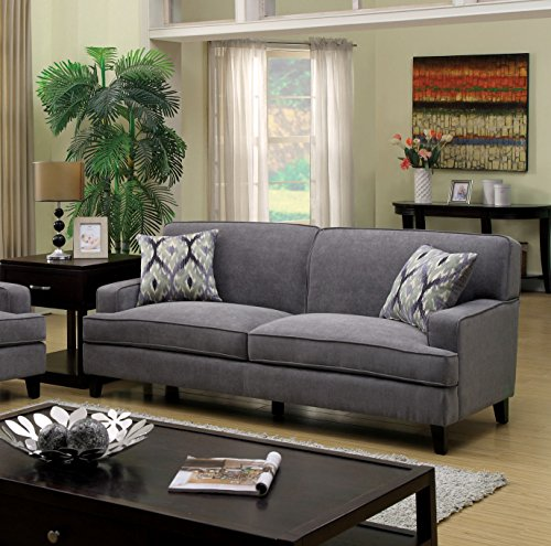 Furniture of America Taylor Classic Sofa, Gray